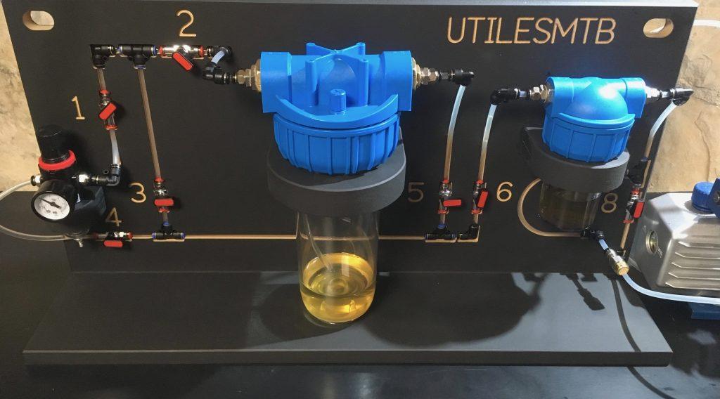 Máquina de carga de aceite por vacío