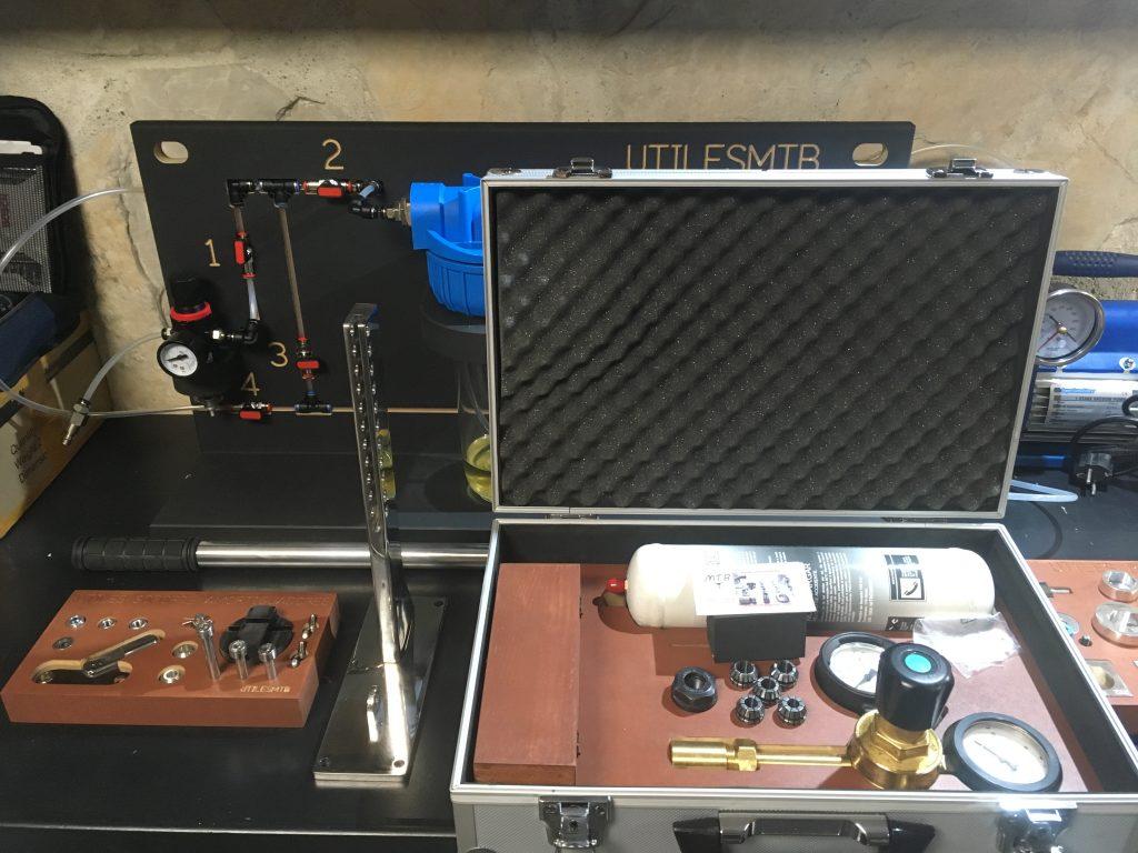 Máquina de Nitrógeno y Útil para test de amortiguadores.